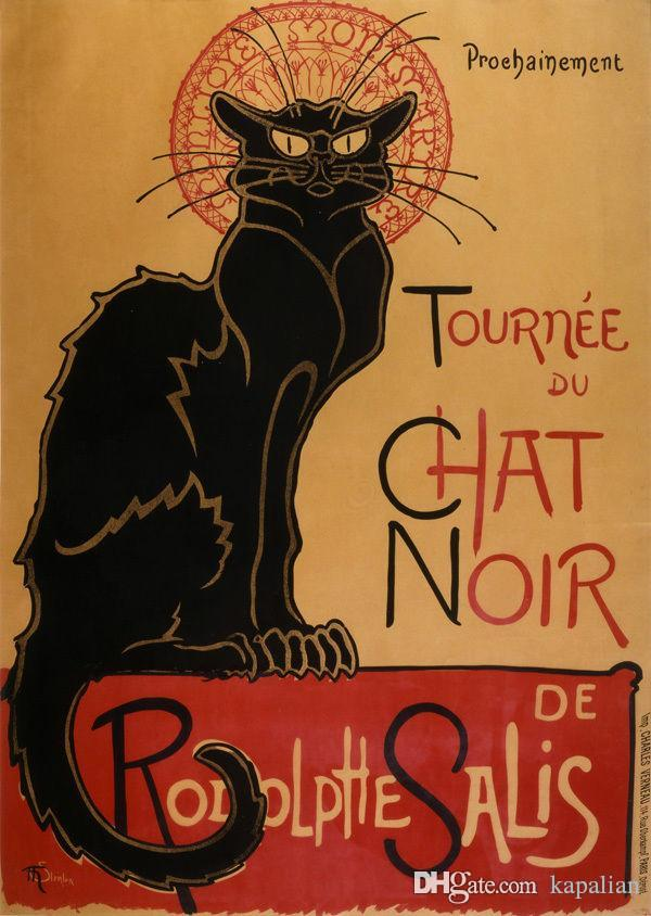 Tournée du Chat Noir de Rodolphe Affiches d'Art Salis Impression Papier Photo 16 24 36 47