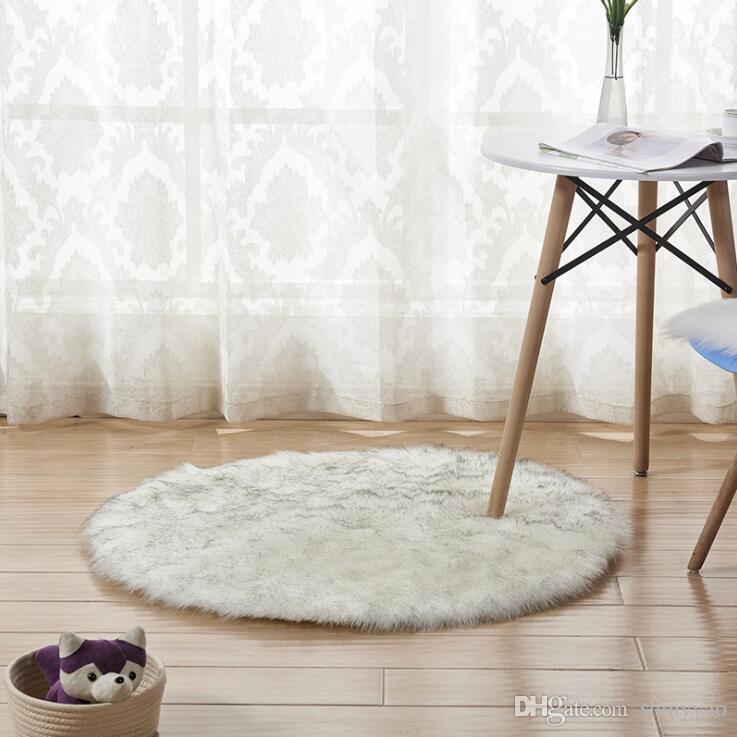 Nova Lã Macia Sala de Estar Mesa de Café Almofada Do Sofá Tapete De Pelúcia Quarto Coberta Do Colchão Branco Flutuante Mat Janela