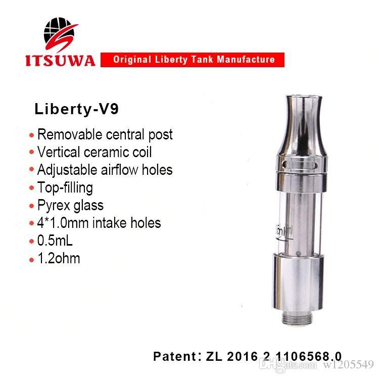 100% originale iTsuwa Amigo Liberty V9 atomizzatore Serbatoio in ceramica Serbatoio in ceramica Olio denso CE3 Atomizzatore cartuccia