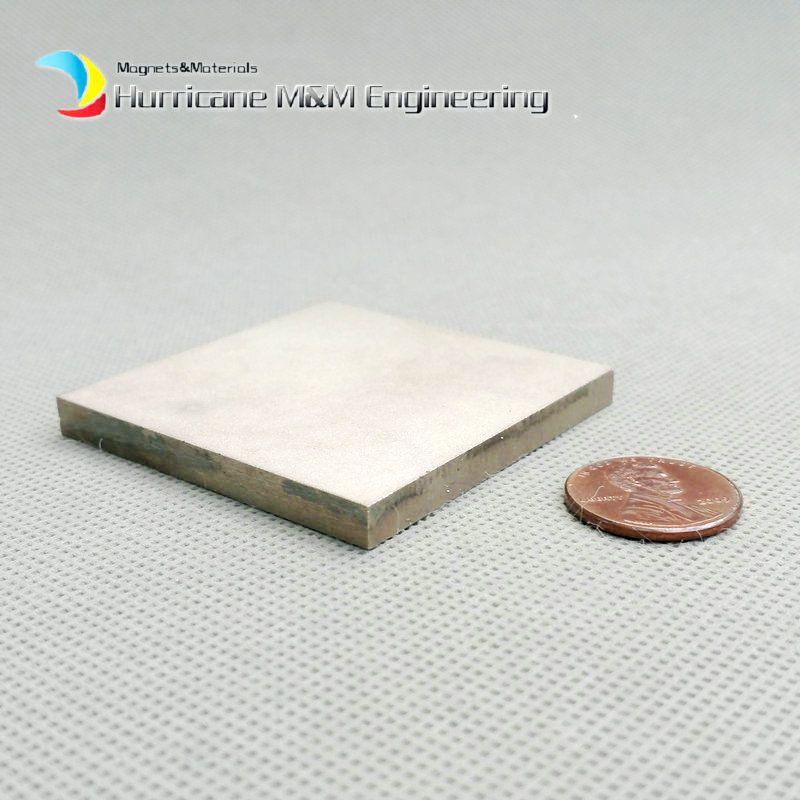 "1 pack SmCo Magnetblock 50x50x5 mm 2 ""Platte YXG24H 350 Grad C Hochtemperatur Motor Magnet Permanent Seltene Erden Magneten"