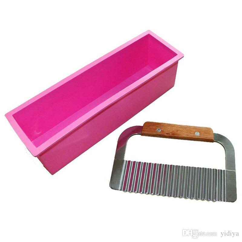 Silicone Cold Processing Mold Soap Cake Toast Baking Loaf Rectangle Tools