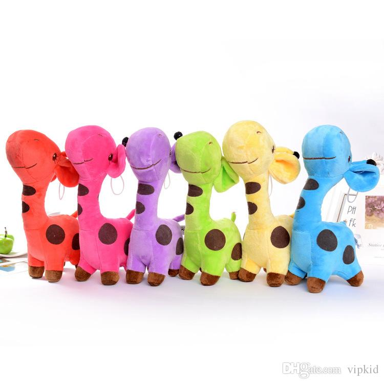 18cm Giraffe deer plush toys doll Car window decoration Sucker pendant Stuffed Animals Toy Holiday gifts 5 Colors to Choose