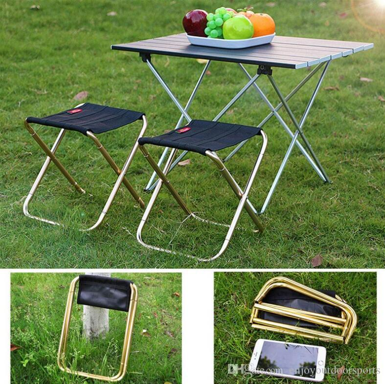 Awe Inspiring Outdoor Portable Foldable Camping Chair Ultralight 7075 Aluminum Alloy Picnic Chairs Bbq Stool Folding Travel Fishing Chair With Bag Us6825 Garden Cjindustries Chair Design For Home Cjindustriesco