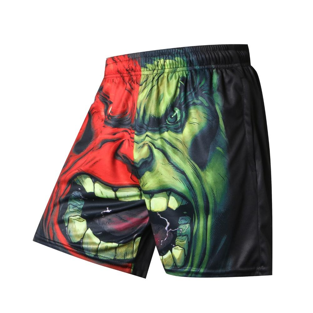 3D Printer Men Summer Causal Shorts Plus Size Green Giant Print Clothing Loose Homme Shorts Quick Qry Polyester Trousers