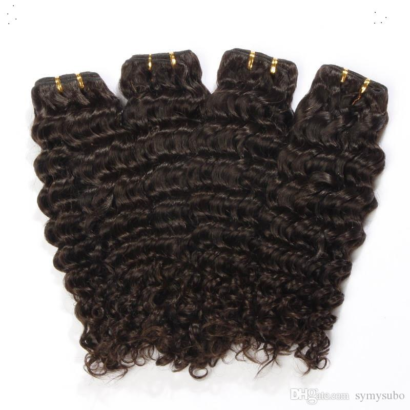 Бразильский Глубокая Волна Волос Ткать Пучки 10-30 Дюймов Бразильский От Blakc Цвет Девственные Волосы Ткачество 100% Человеческих Волос Ткать