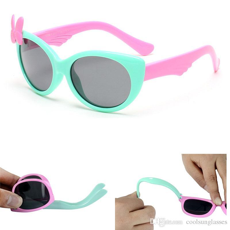 Mädchen Sonnenbrille Kinder Polarisierte Brille Baby Kinder TR90 Rahmen Sonnenbrille UV400 Junge Mädchen Nette Coole Brillen Brille S888