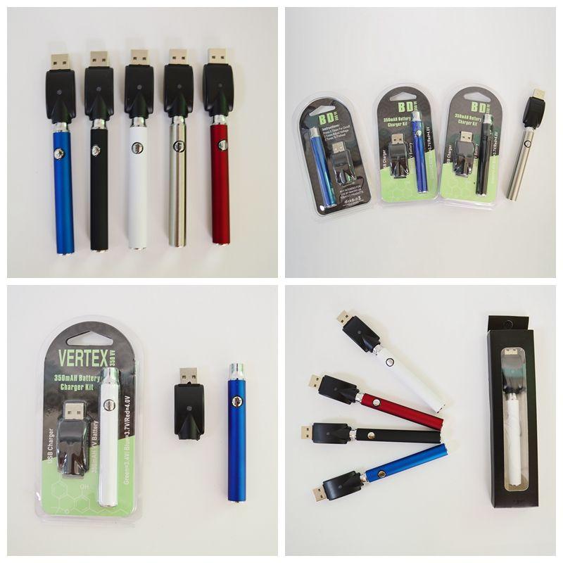 Buharlaştırıcı kalem 510 iplik pil 350mAh Değişken Valtage Vape Pil Ön ısıtma vape kalem pil E Sigaralar