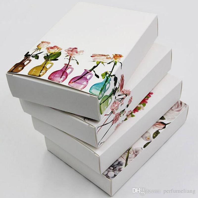 13 * 4 * 19 cm ofício branco caixa de embalagem de papel caixa de papelão caixa de embalagem caixa de embalagem de presente de casamento Favor do favor ZA6609