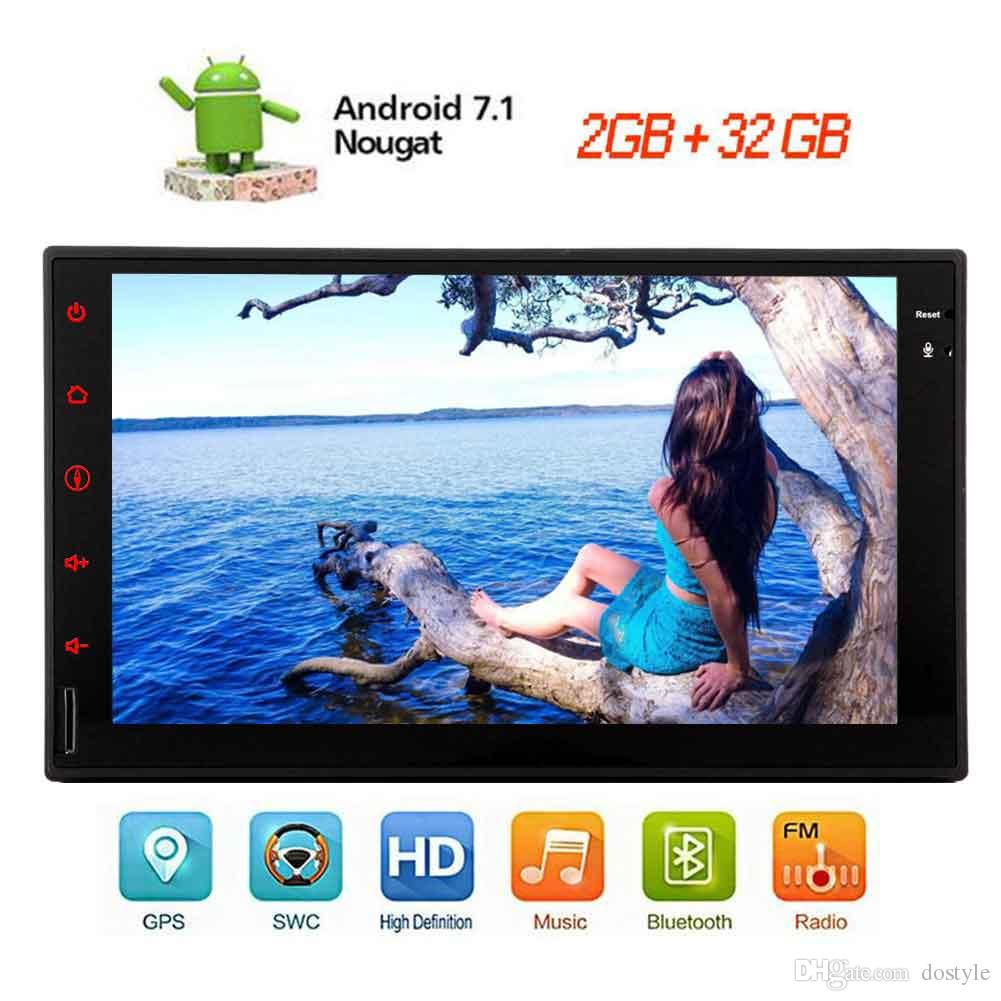 Android Stereo OCTA-core 7.1 System Car NO DVD Player 7'' 1024*600 Touchscreen in Dash Autoradio Bluetooth Head Unit OBD/Wifi/Mirror Link