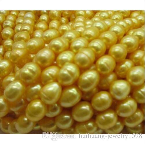 100 Zoll schöne 11-13mm Südsee-Goldperlenhalskette Gelb schöne 11-13mm Südsee-Goldperlenhalskette gelbe 14k Spange