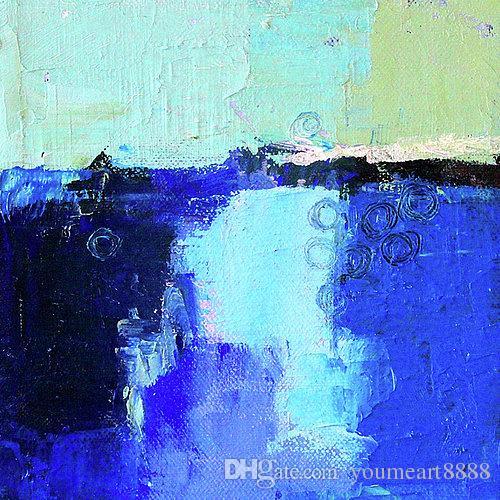 blue-lagoon Abstraktes Gemälde Moderne zeitgenössische Leinwand Kunst Reales handgemachtes Ölgemälde Eigenes Leben Top Qualität Bestes Sellin