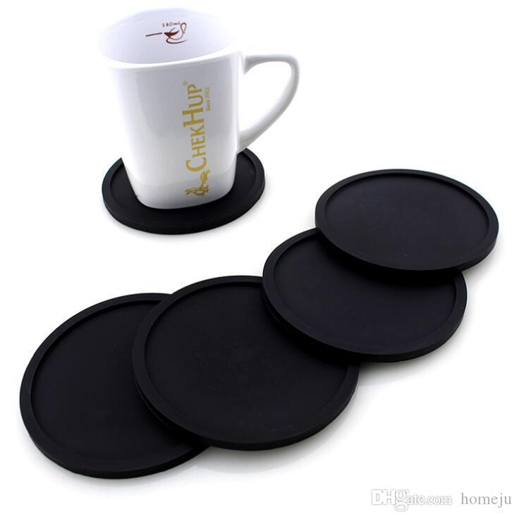 20 pcs/set Wholesale Silicone Drink Coaster Placemats For Table Mats For Dinner Table Placemat Silicone Cup Pads Set Kitchen