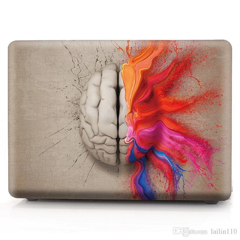 Brain-3 Oil painting Case for Apple Macbook Air 11 13 Pro Retina 12 13 15 inch Touch Bar 13 15 Laptop Cover Shell