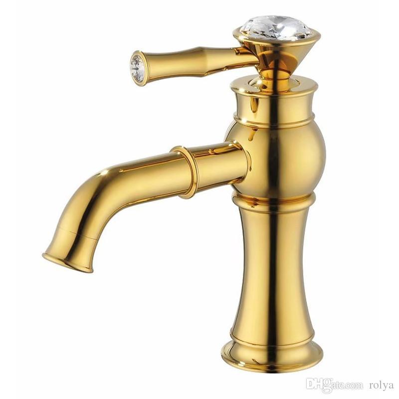ROLYA Einhand Bad Wasserhahn Becken Waschbecken Mischbatterie Luxuriöse Goldenen Finish