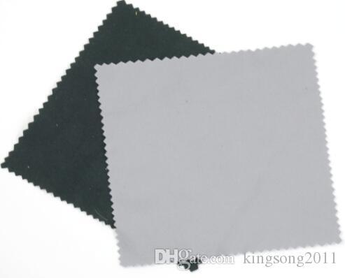 Na venda 170GSM 12 * 16 cm preto microfibra pano de limpeza lente limpador para óculos / câmera / telefone em zig zag corte 12 cores disponíveis