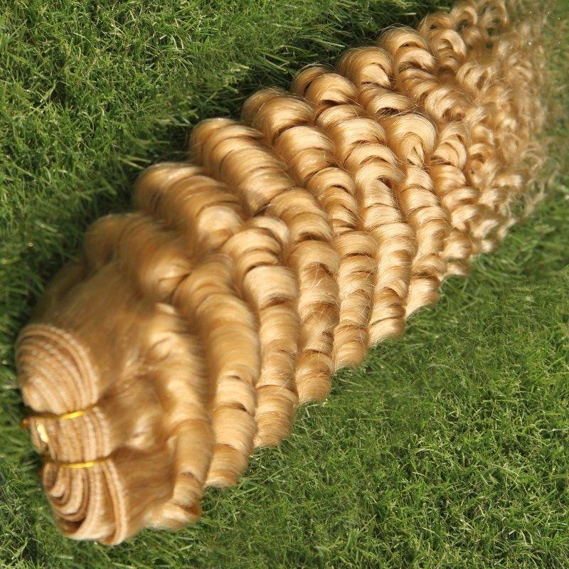 # 613 Bleach Loiro cor profunda Onda brasileiro do cabelo Weave Pacotes 100% humano Tecelagem do cabelo 10-28 pulga Remy Hair Extension