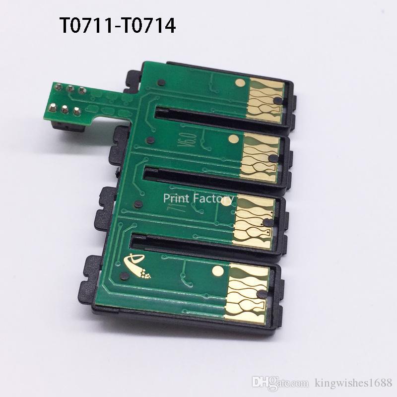Puce combinée de T0711 CISS pour Epson DX4400 DX4450 DX5050 DX6000 DX6050 DX7400 DX7450 DX8400 DX8450 DX9400 DX9400F