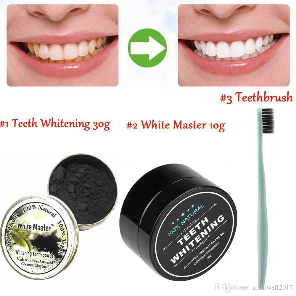 Natural and Organic Activated Charcoal Teeth Whitening Charcoal Toothpaste Teeth Whitening Powder Ultra Soft Toothbrush Dentist Tools