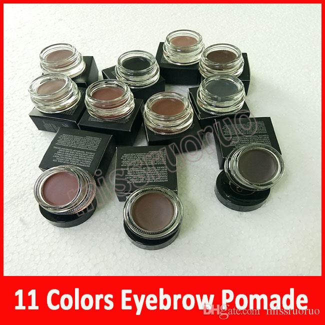 Yeni Makyaj 11 renk Göz Pomad Orta Kahverengi Su Geçirmez Makyaj Kaş Uzun Ömürlü 4g! Kulübe