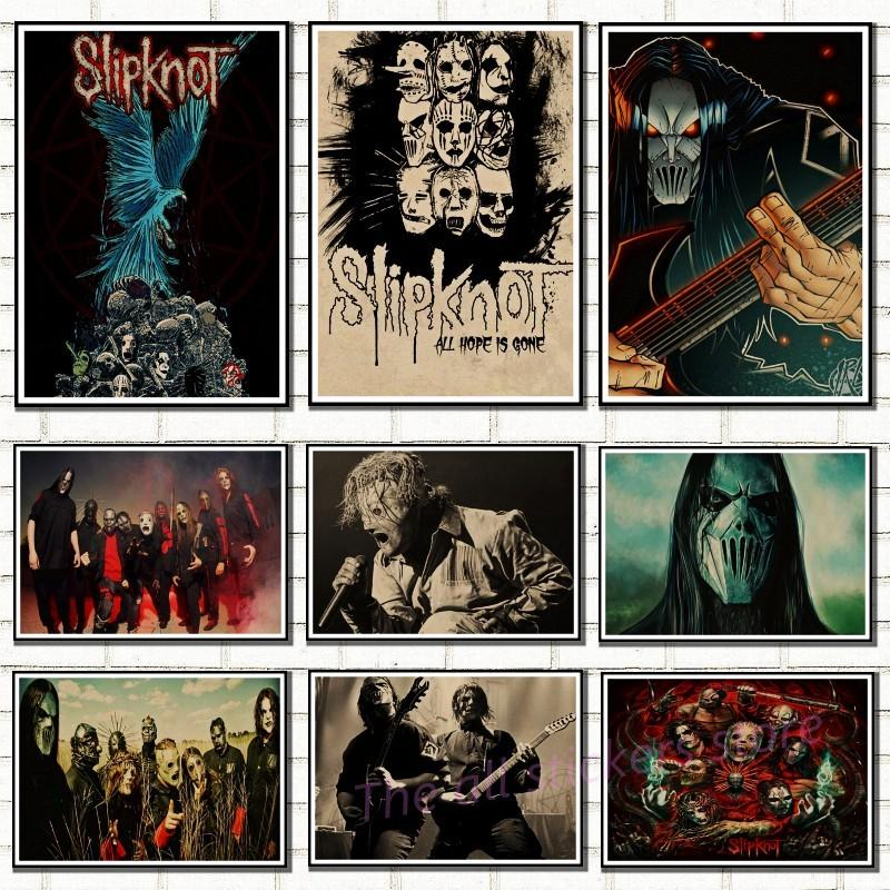 Free shipping,Slipknot Heavy Metal poster/ROCK BAND/kraft paper/bar poster/Wall stickers/Retro Poster/decorative painting/6036