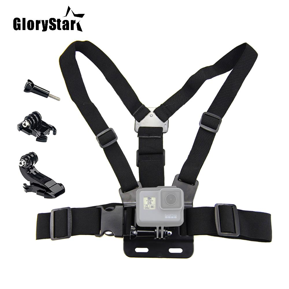 Sports camera Accessories Adjustable Body Harness Chest Belt Mount for Gopro 3 4 5 6 7 for Xiaomi for Xiaoyi Chest Strap 678