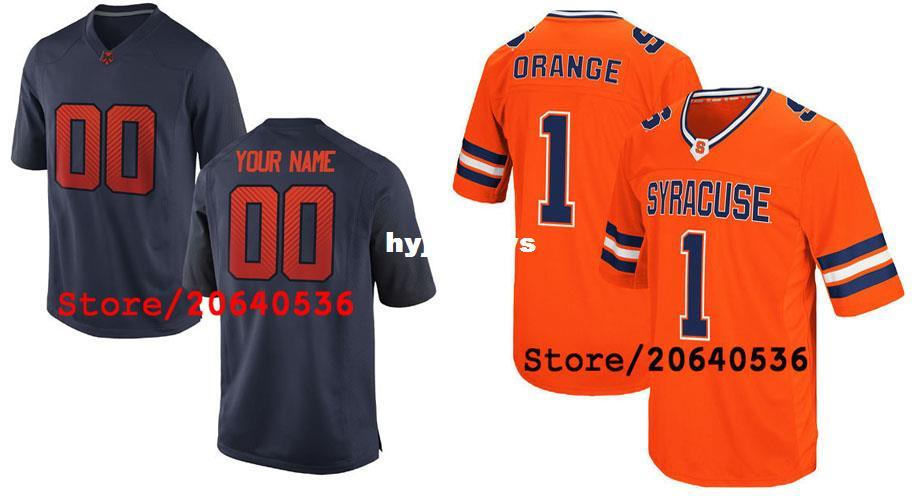 super popular 0ba09 cd3ee 2019 Cheap Custom Syracuse Orange College Jersey Mens Women Youth Kids  Personalized Any Number Of Any Name Stitched Orange Navy Football Jerseys  From ...