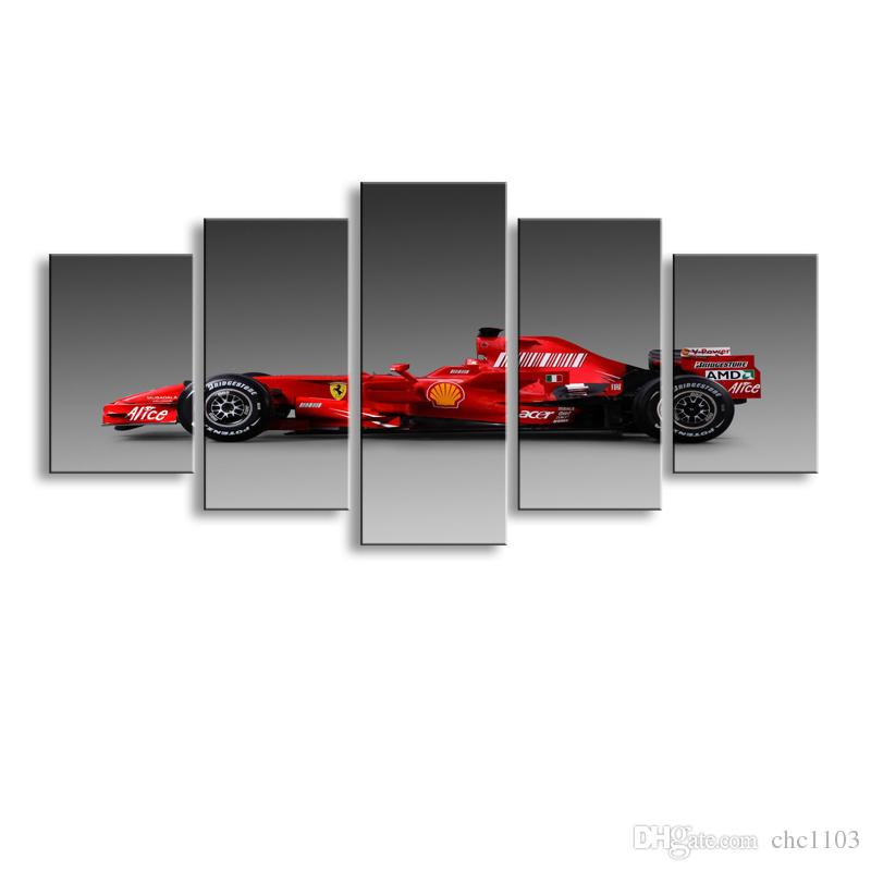 5 pieces high-definition print sports car canvas oil painting poster and wall art living room picture C5-41