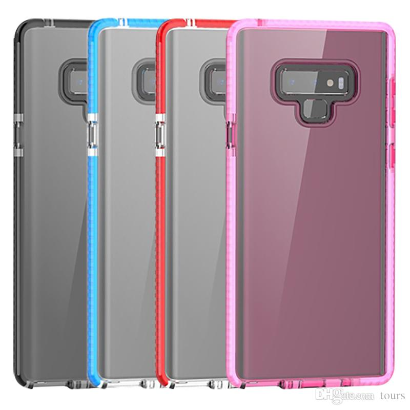 For Samsung Note 9 Clear Case 2in1 Hybrid Soft TPU Bumper Back Cover For Samsung Note 9