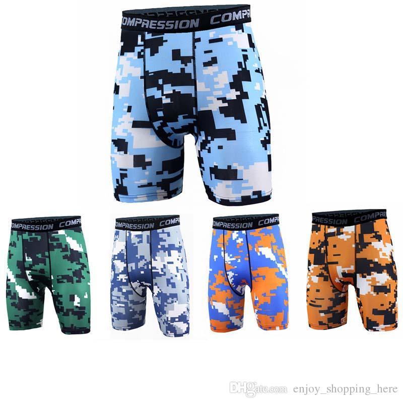 Men compression Shorts camo Tracksuit Gym shorts PRO Slim Fitted Active shorts Sweatpants Bodybuilding Combat Dry Leggings men short pants