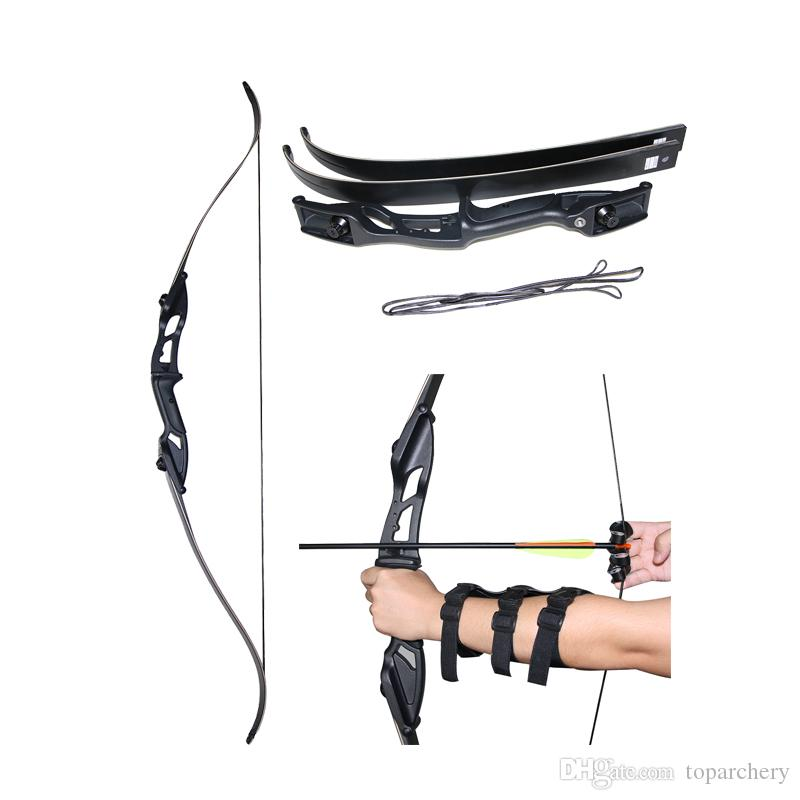"56/"" Archery Takedown Recurve Bow 30-50lbs Aluminum Riser Target Shooting Hunting"