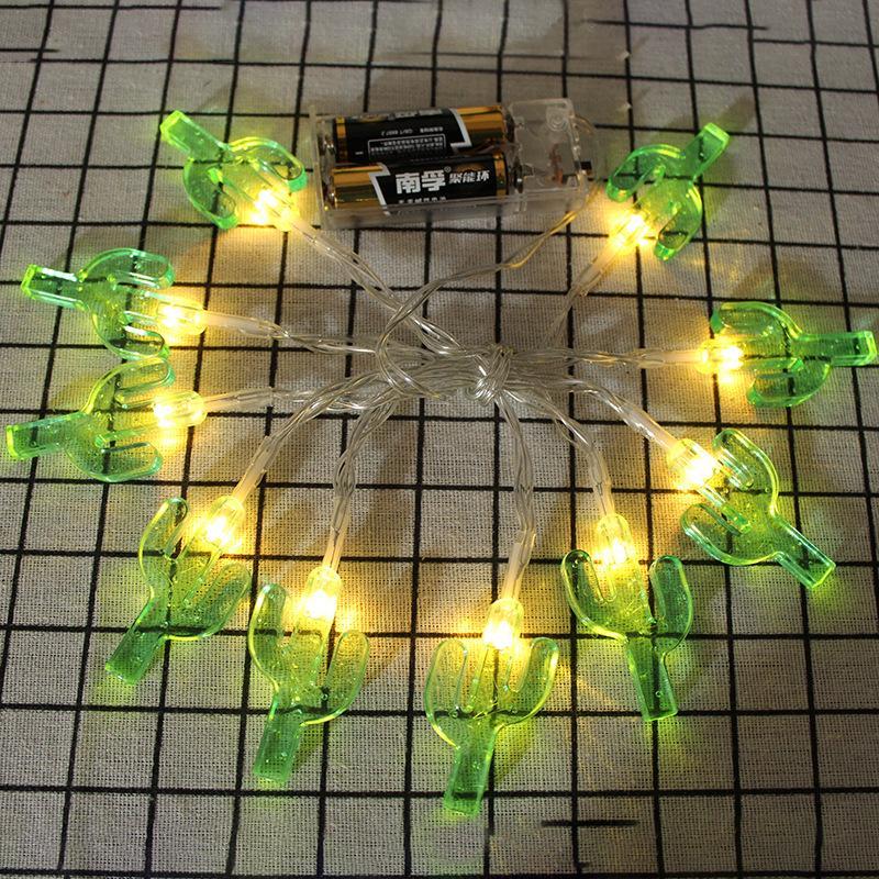 Ins Explosion Solar Lichterkette Kaktus Batterie Box Lichterkette Raumdekoration Lichterkette