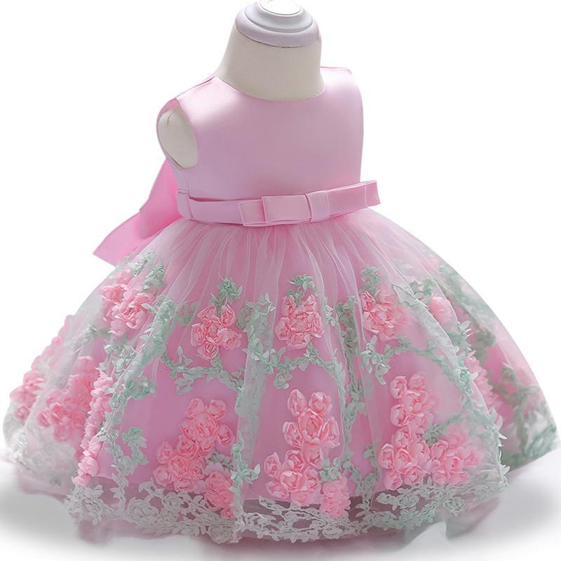 Infant Party Dresses 2018 Summdr Baby Girls Dresses For Baby Girls Princess Dress 1 Year Birthday Dress Newborn Christening Gown