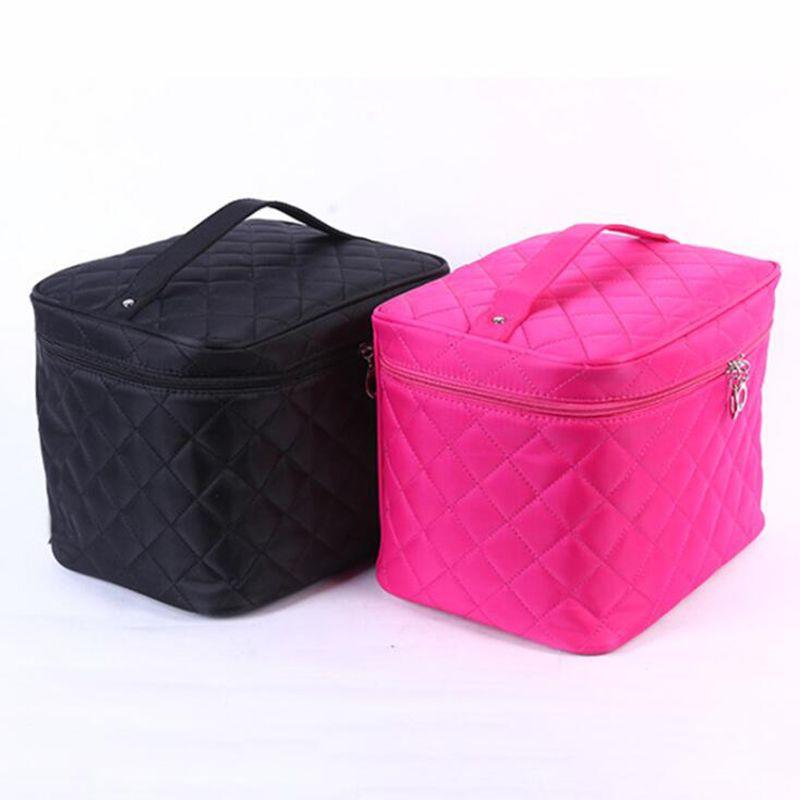 أنثى مبطن المهنية حقيبة مستحضرات التجميل النسائية سعة كبيرة تخزين حقيبة السفر أدوات الزينة حقيبة ماكياج شحن مجاني