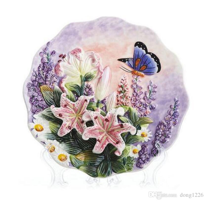 Butterfly Dance decorative wall dishes porcelain decorative plates vintage home decor crafts room decoration figurine
