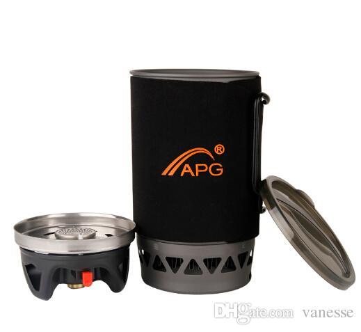 APG 1400ml Tragbares Wandern Camping Gasherd Brenner System und fließendes Kochen