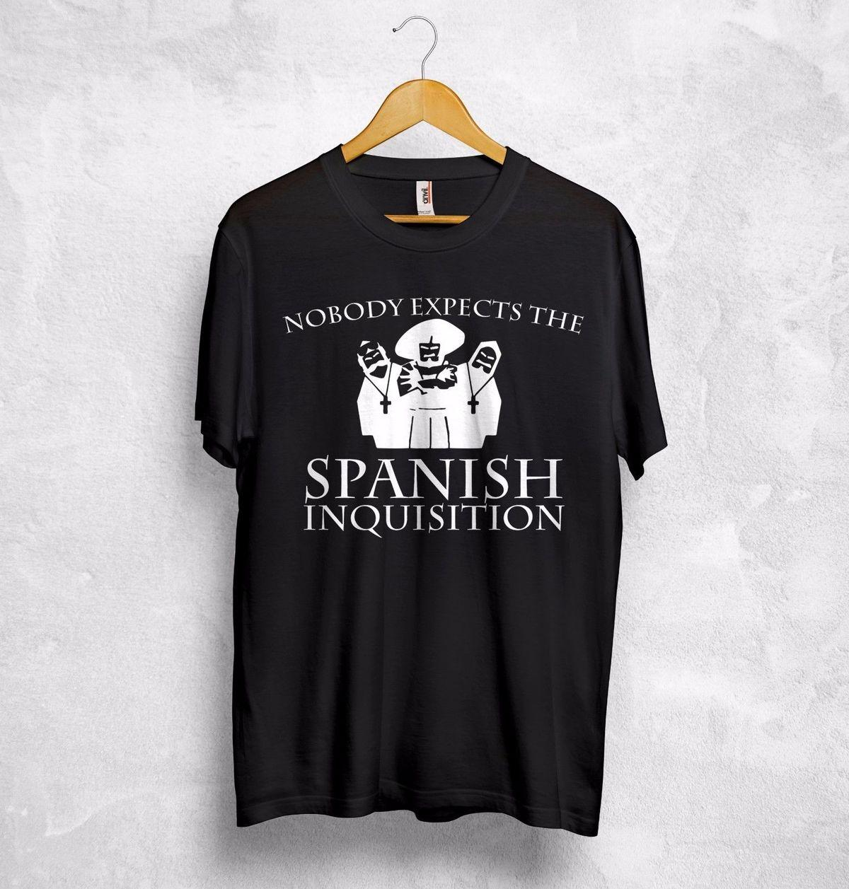 "S - XXL MONTY PYTHON /""SPANISH INQUISITION/"" MENS T-SHIRT OFFICIAL BLACK"