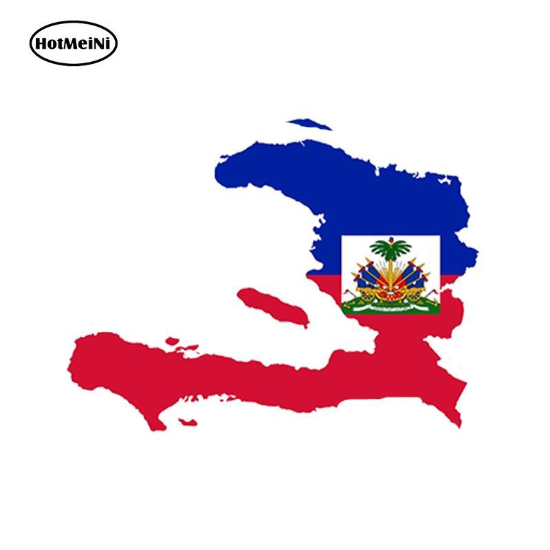 Großhandel JDM Haiti Karte Flagge Vinyl Aufkleber Auto Aufkleber Glas Aufkleber Kratzer Aufkleber Stoßstange Zubehör