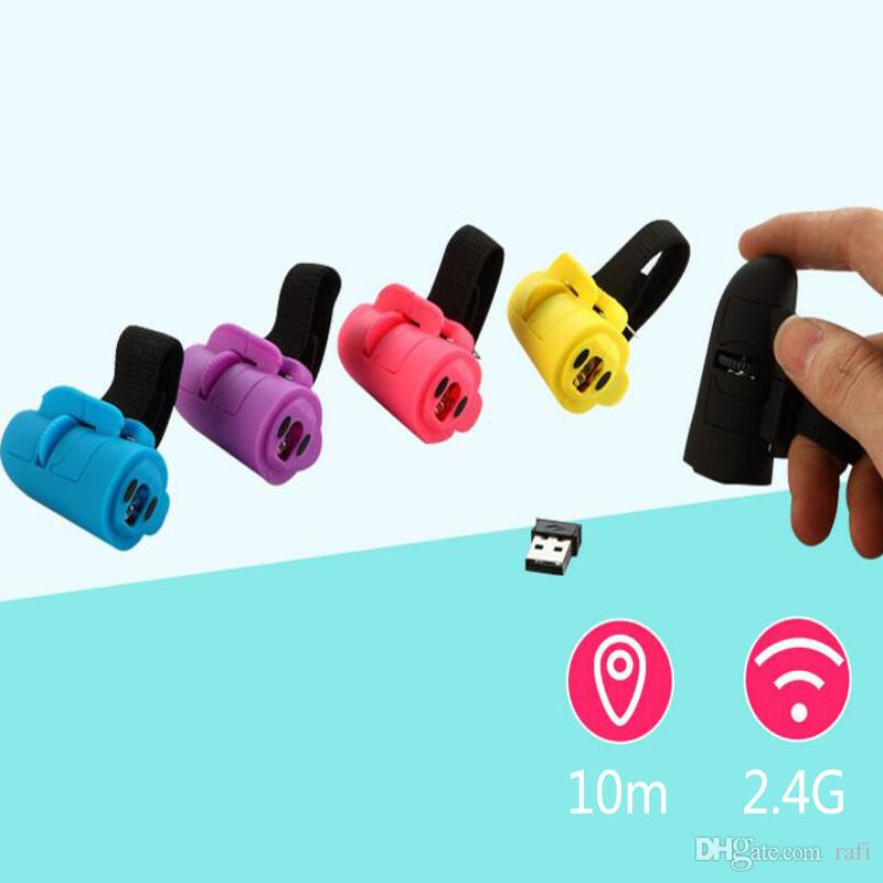 High Quality 2.4G wireless mouse creative wireless finger lazy mice computer phone tablet ring mini bluetooth