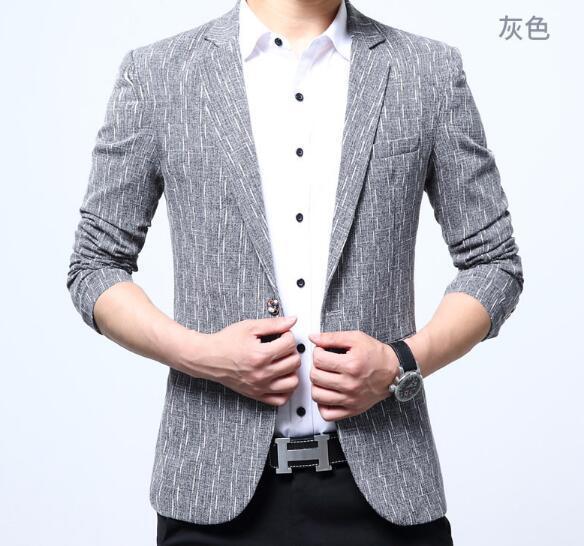 e594f18aee9ca Satın Al 2018 Yeni Varış Marka Giyim Ceket Bahar Takım Elbise Ceket  Erkekler Blazer Moda Ince Erkek Takım Elbise Rahat Blazers Erkekler Boyutu  M 4XL, ...