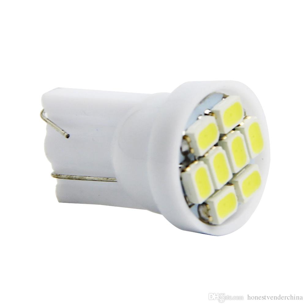 100X bianco di alta qualità T10 8 SMD 1206 8LED 8Smd 194 168 192 Lampadina laterale auto auto 194 168 W5W LED Lampada a cuneo 12V all'ingrosso