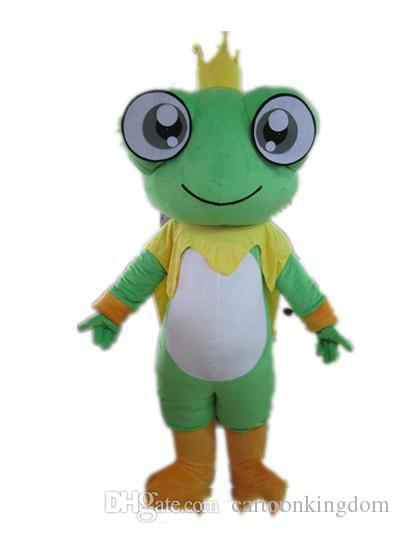 2018 Factory direct sale Good vision and good Ventilation a big eyes frog mascot costume for adult to wear