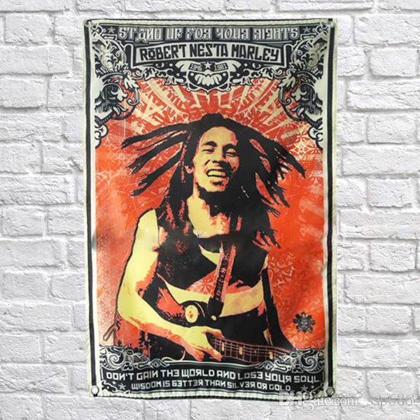 Bob Marley Flag Banner Poliestere 144 * 96cm Hang on the wall 4 occhielli personalizzati Flag indoor Larghing