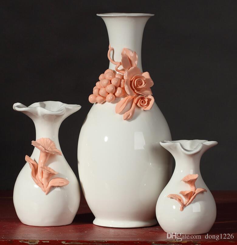 Keramik Prise blume kreative vertrag blumen vase topf wohnkultur handwerk raumdekoration handwerk porzellan figur geschenk