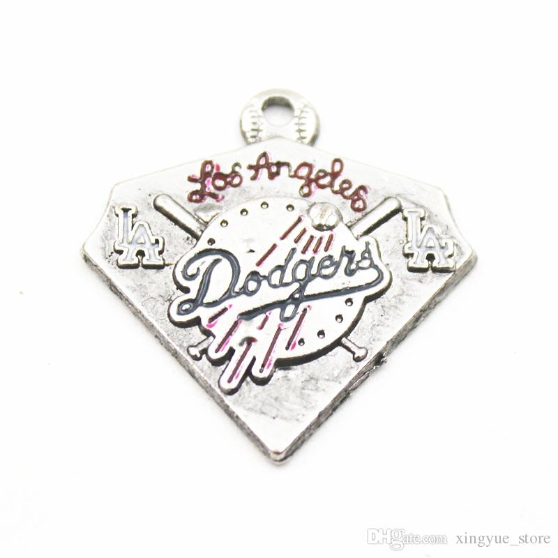 20pcs Hot Sale Baseball Team Sports Logo Floating Dangle Charms Pendant For Necklace Chain Bracelet Earring Jewelry