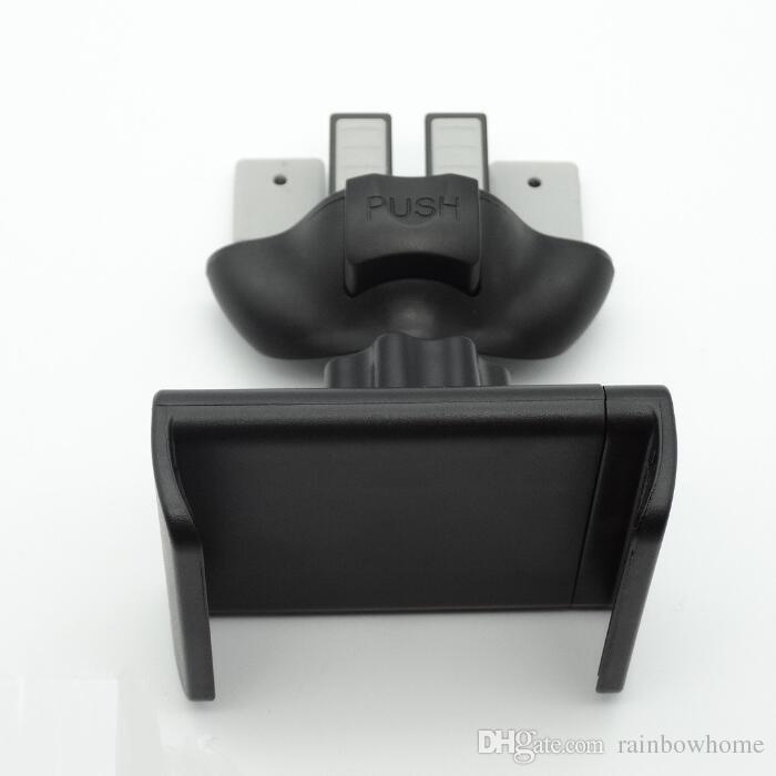 Slot para cd + Suporte de Montagem de Suporte de Expansor De Ar Do Carro Do Carro para GPS Telefone Celular Celular iPhone Galaxy S9 360 Graus de Rotação com Caixa De Varejo