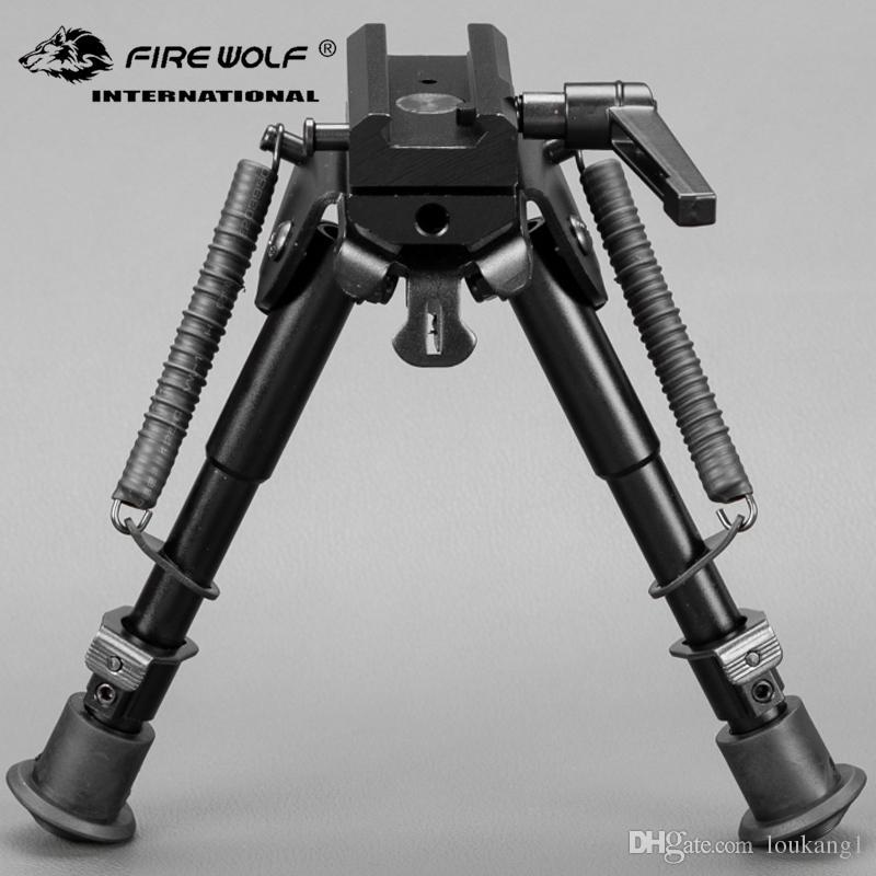 6-9 بوصة التكتيكية بندقية Bipod عودة الربيع قابل للتعديل مع 360 درجة قطب محول جبل لجبل السكك الحديدية 20MM