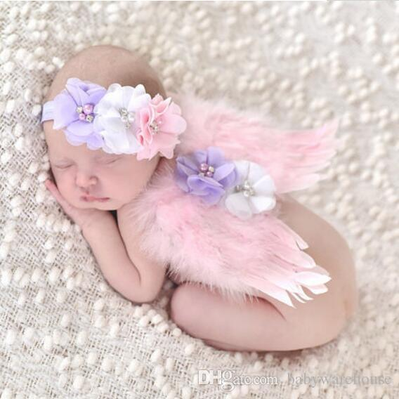 Pretty Newborn Baby Girl Flower Headband Photo Photography Prop
