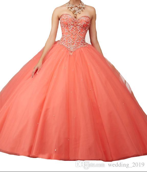 Quinceanera Dresses Hot money, heart shape, heavy handwork, skirt, multi-layer net, fluffy dress, vest, back strap, custom mail.