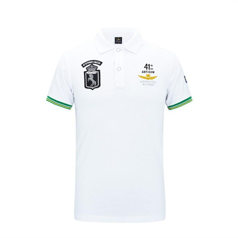 8ea8f95a42e 2019 Designer Polo Shirts 2018 Hot Sale Mens British Polo Shirt Fashion  Slim Short Sleeved Men Embroidery T Shirt Turn Down Collar Shirts S 4XL  From ...