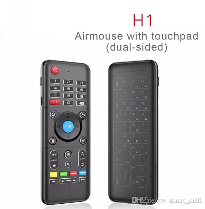H1 полный 2.4 ГГц мышь воздуха с подсветкой сенсорная панель беспроводная клавиатура 6-осевой гироскоп пульт дистанционного управления с подсветкой для Andriod / Windows / Mac OS / Linux LLFA